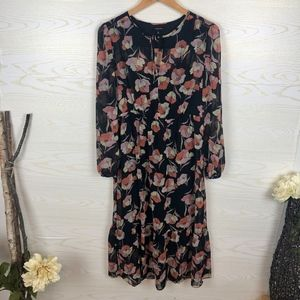 Who What Wear Boho Midi Floral Dress
